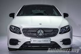 The e 200 coupe amg line goes on sale at rm435,888 while the e 300 coupe amg line goes for rm499,888 and rm534,888 for the edition 1. The New Mercedes Benz E Class Coupe Now In Malaysia Start Every Journey With A Light Show Autobuzz My
