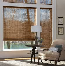 ... Brown Rectangle Classic Bamboo Roller Shades Interior Stained Ideas:  Awesome bamboo roller shades ...