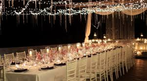 wedding table lighting. Beautiful Wedding Table Decor Idea With Battery Operated Candles, Orchids And Crystals. Lighting