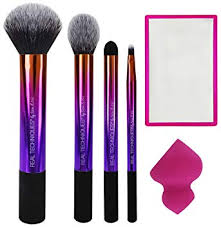 real techniques color and contour set makeup brush and sponge set for liquid