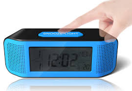 digital alarm clock loud electric clocks with snooze sound control countdown time setting