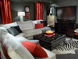 Basement Media Room Media Room Design Ideas Small Basements White Sectional And