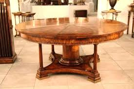 large round oak dining table room seats 8 mahogany radial with patent action