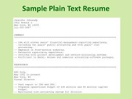 Plain Text Resume Template Awesome Collection For Plain Text Resume Template Of Your Format