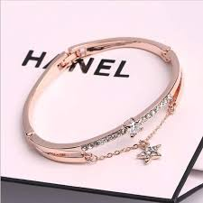 Online Shop <b>Luxury</b> Famous Brand Jewelry Rose Gold Stainless ...