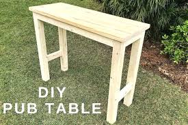diy bar table picture of pub table diy outdoor bar height table plans