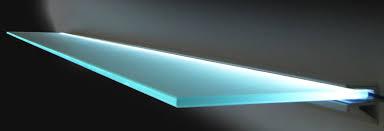 Led Floating Glass Shelves Classy Floating Glass Shelves With Lights For The Bar In 32 Pinterest