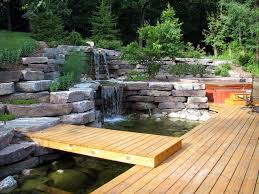 Small Picture Garden Waterfall Stone Waterfall Pond and Waterfall Miller