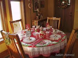 Christmas Table Setting Zettas Aprons Fun Christmas Table Settingand A Winner