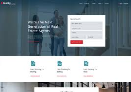 professional webtemplate real estate website template reality responsive ease