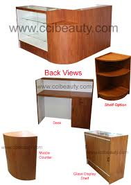 l shape reception desks