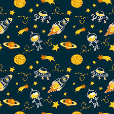 Space Pattern Gorgeous Seamless Patterns Wow Yellow Evgeniya Pautova