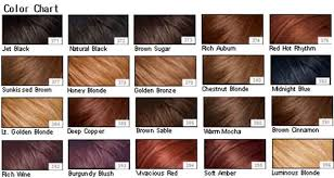Esalon Hair Color Chart Sbiroregon Org
