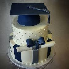 School Color And Graduation Cap Cake The Makery Cake Company