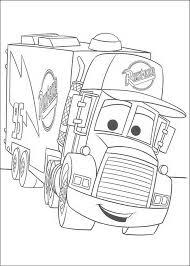 Kleurplaat Cars Disney Gewelidig Grote Vrachtauto 9336