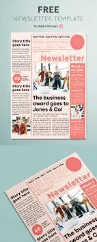 Free Indesign Newspaper Template Modern Newsletter Template For Indesign Free Download