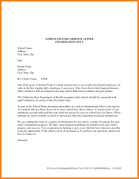 Sample Of Excuse Letter For Absent In School Valid Excuse Letter