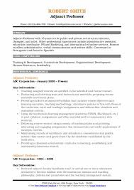 Adjunct Professor Resumes Adjunct Professor Resume Samples Qwikresume