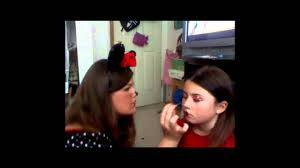 kid minnie mouse makeup tutorial