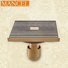 Mancel Anti-Odor Floor Drain 12*12Cm Antique Brass Floor Drain In ...
