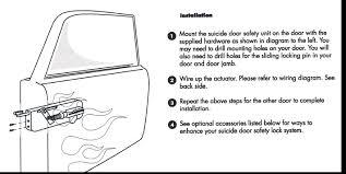 autoloc dl2500 electric suicide door safety pins Autoloc Wiring Diagram autoloc dl2500 electric suicide door safety pins autoloc door popper wiring diagram