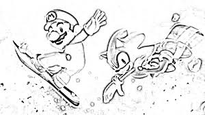 Mario And Sonic Olympic Games Coloring Pages Color Bros