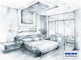 Bedroom Interior Design Drawing Drawings Pinterest Drawings