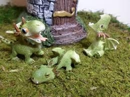 fairy garden castle. Miniature Dragons Fairy Garden Gardening Enchanted Kit Whimsey Terrarium Castle From WaWasGarden On Etsy