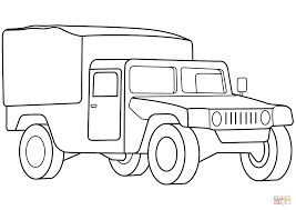 military medical vehicle coloring page and army truck