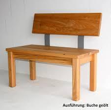 Sitzbank 180x83x53cm Mit Rückenlehne Massivholz Geölt