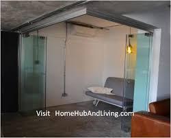 frameless door system flexible study room all glass panels collapse position official site of latest frameless