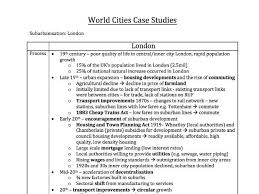 a level geography aqa world cities mark model essay a standard  aqa a2 geography world cities case studies