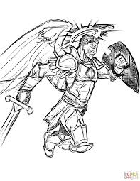 Small Picture Warrior Angel coloring page Free Printable Coloring Pages