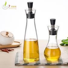 kitchen accessories vinegar sauce oil seasoning storage glass bottle leak proof oil jars with lid 250ml 500ml glass bottle vinegar sauce oil seasoning