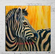 funny zebra canvas oil painting best gift wall stickers canvas painting for kids rooms wall decor home decor for