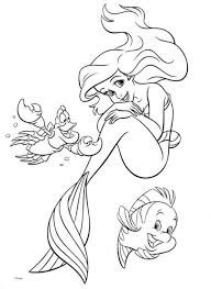 Small Picture Disney Mermaid Princess Ariel Birthday Coloring Pages Bulk Color
