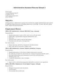 Resume Objectives For Administrative Assistants Examples Resume ...