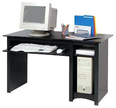 wood computer desk furniture small wood laminate computer desk in black desks and hutches solid wood