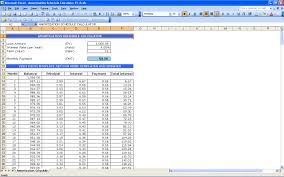 Amortization Schedule Template Excel Printable Schedule