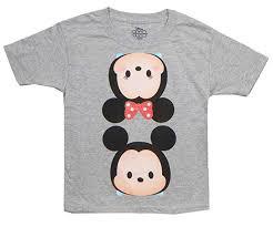 Tsum Tsum Color Chart Amazon Com Disney Tsum Tsum Kids Mickey Minnie T Shirt