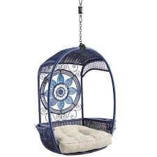 Pier one hanging chair Patio Furniture Save This Item To Pinterest Pier Swingasan Blue Medallion Hanging Chair Pier