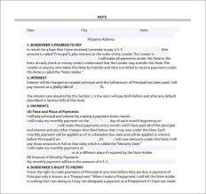 8 Mortgage Note Samples Sample Templates Venturecrapital Us