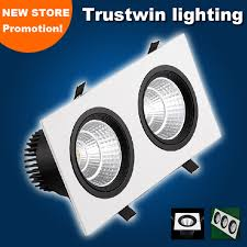 1 2 3 head lights spotlight double triple 20w 30w 45w fitting ceiling cob led grille