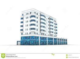 office building 3d illustration stock photography abstract 3d office building