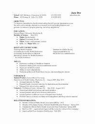 Intern Resume Sample New Psychology Resume Examples Letter Of
