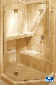 adorable tile shower with neo angle shower and shower bench also glass shower door