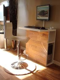 computer desktop furniture. tall and sleek workstation tucks away desktop tower computer furniture