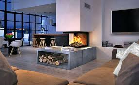 double sided wood fireplace design fireplaces pivot stove heating company