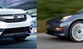 Honda Accord Compared With Tesla Model 3 Carsifu