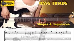 Bass Triad Arpeggios Lesson With Tab Shapes Major Minor Dim C Major Sequences